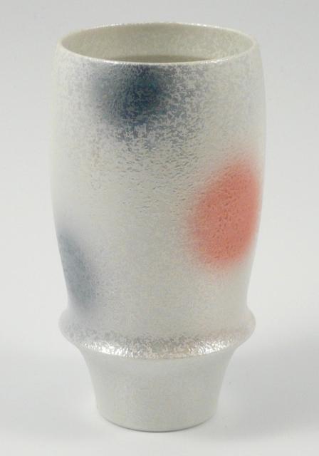 【匠の蔵 プレミアムビアグラス】 ラスター二色水玉(青)<オリジナル>