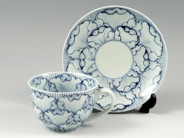 花弁紋(青) コーヒーカップ&ソーサー