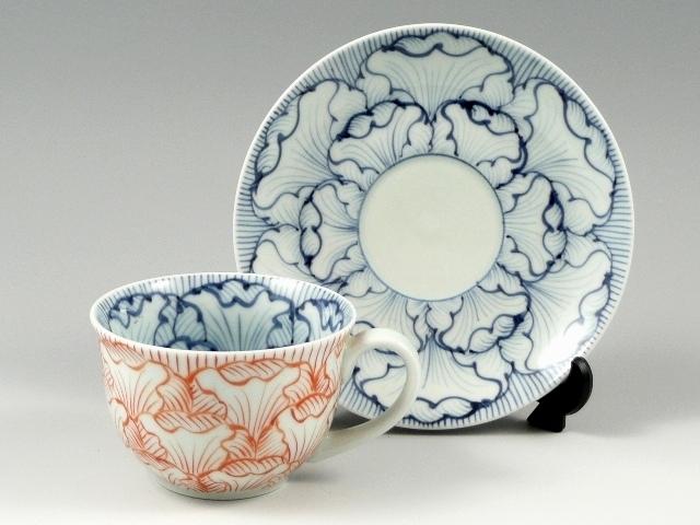 花弁紋(赤) コーヒーカップ&ソーサー