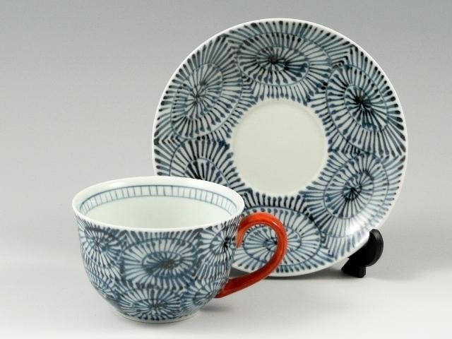 蛸唐草(赤) コーヒーカップ&ソーサー