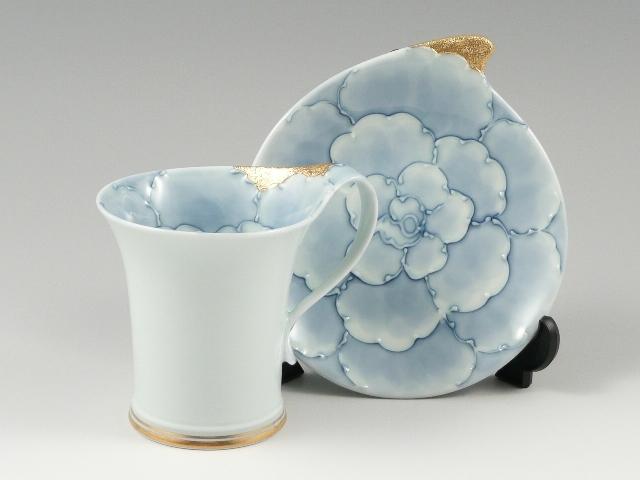 金牡丹流転型 コーヒーカップ&ソーサー