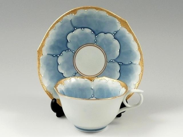 金牡丹輪花浅型 コーヒーカップ&ソーサー