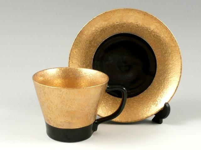 金濃黒釉掛分 コーヒーカップ