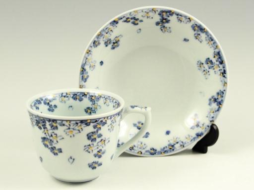 桜散し(青) コーヒーカップ&ソーサー