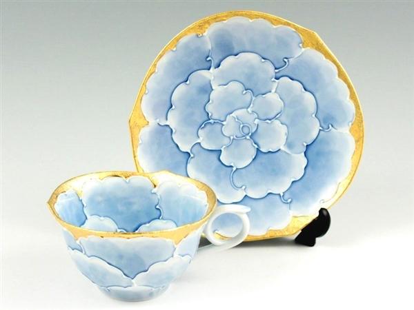 内外金牡丹輪花浅型 コーヒーカップ&ソーサー