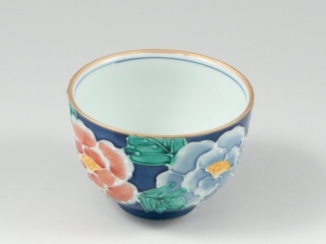 染錦二色牡丹 千茶