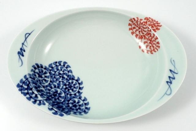 【匠の蔵 極上のカレー皿】 蛸唐草(赤)<オリジナル>