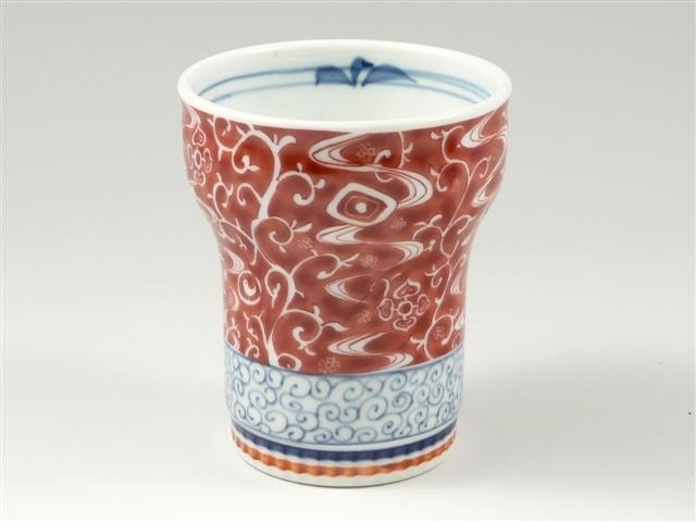 錦唐草(赤) キーポ焼酎カップ