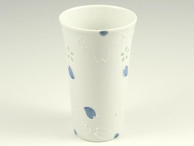 クリスタル桜(青) ビアカップ