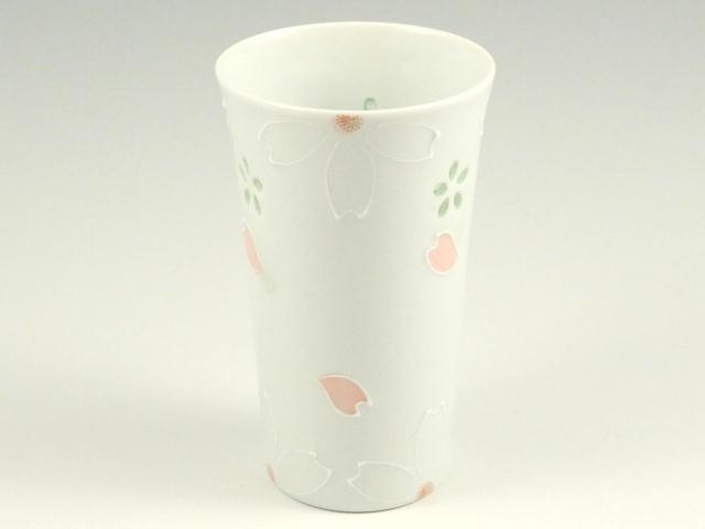 クリスタル桜(ピンク) ビアカップ