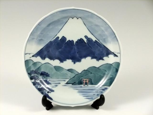 富士山湖畔図 小飾皿<オリジナル>