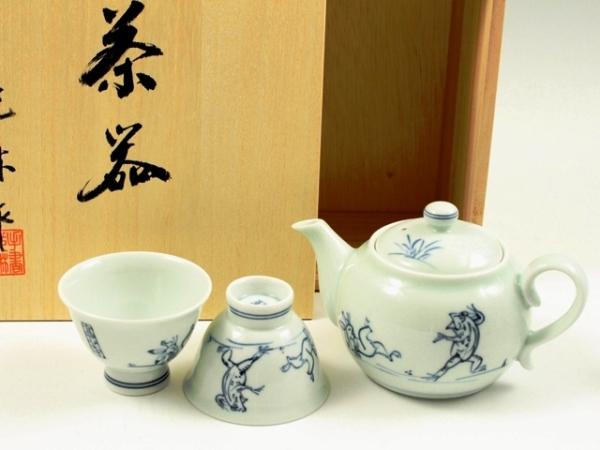 高山寺 小茶器揃(玉露煎茶5 ミニポット1)