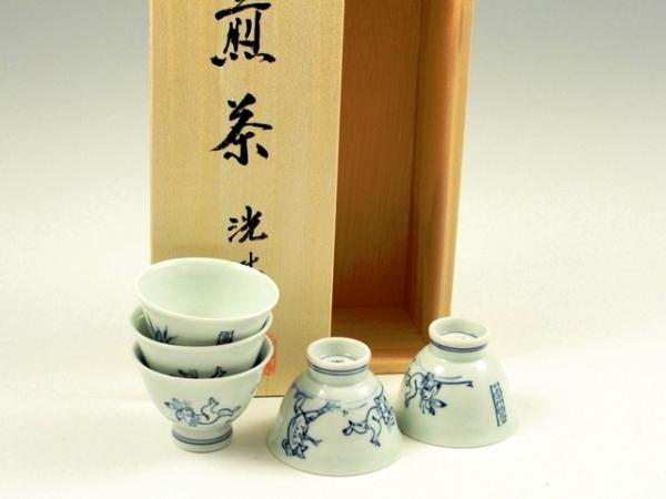 高山寺(鳥獣戯画) 小千茶揃(玉露煎茶5客揃)