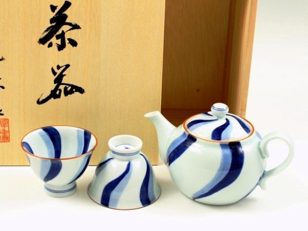 内外流水 小茶器揃(玉露煎茶5 ミニポット1)