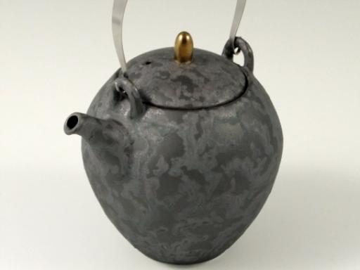 黒絞り (U網)T土瓶(ステンレスツル付)
