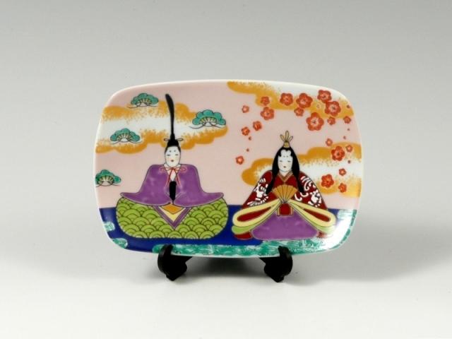雛人形 角飾皿(小)