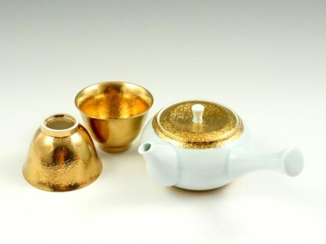 金彩 茶器揃(反小千茶2 急須1)