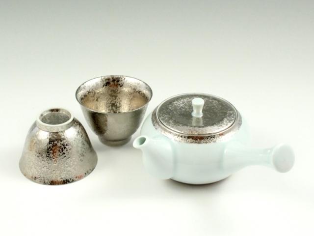 プラチナ彩 茶器揃(反小千茶2 急須1)