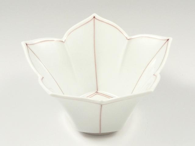 桔梗筋桔梗型(赤) 小鉢