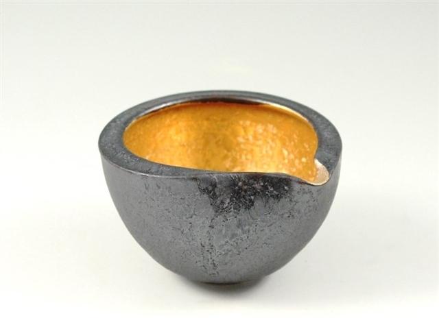 晶内金塗り 丸片口鉢(小)