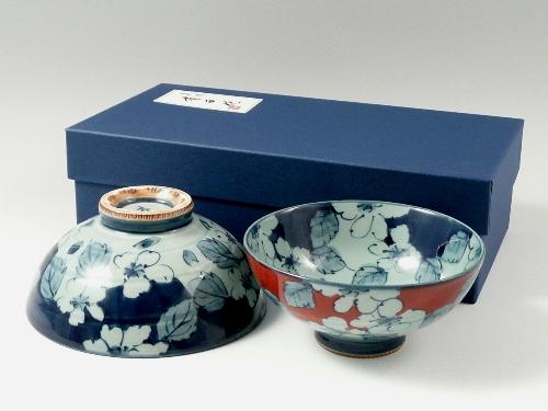 内外渕濃桜 組茶碗