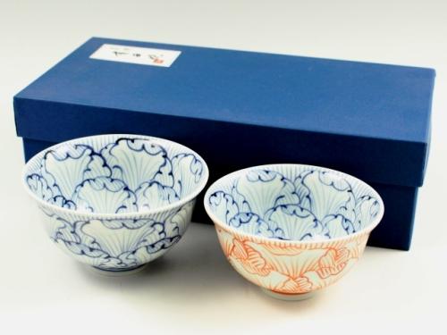 花弁紋 組茶碗