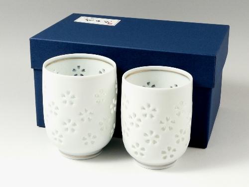 【オリジナル名入れ】水晶花詰 組湯呑