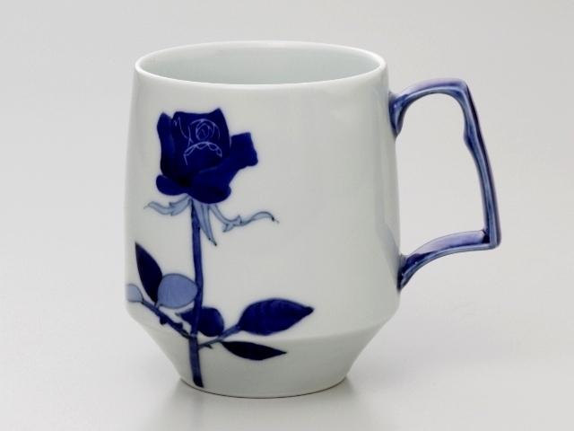 青いバラ モーニングマグカップ