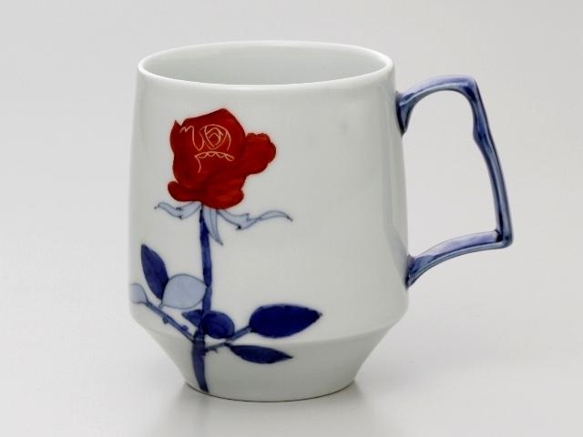 赤いバラ モーニングマグカップ