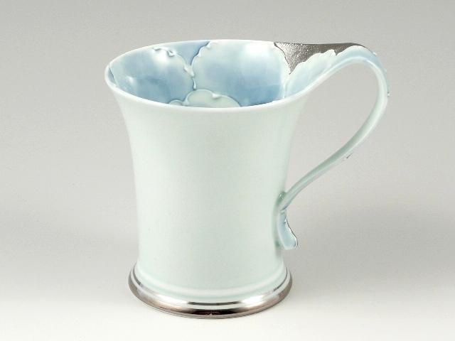 プラチナ牡丹流転型 マグカップ
