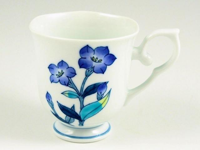 桔梗(青) 彩花マグカップ