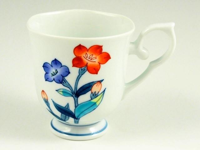 桔梗(赤) 彩花マグカップ