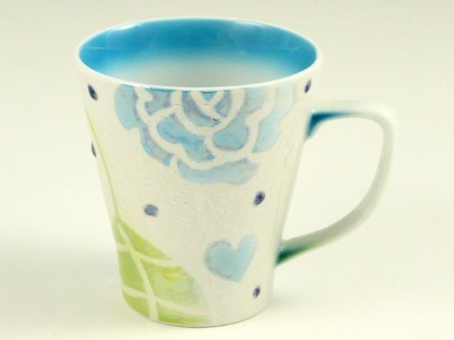 ラスター薔薇(青) マグカップ