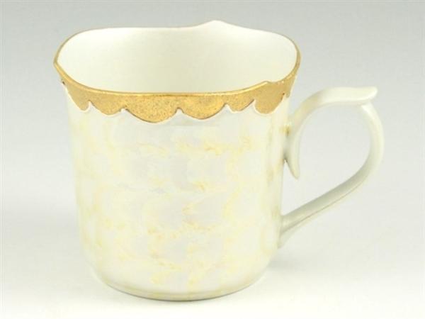 金松葉吹ラスターゴールド輪花型マグカップ