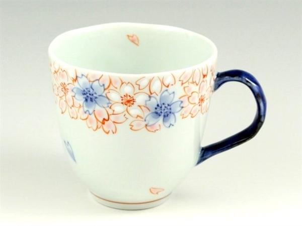 染錦渕桜(青) マグカップ