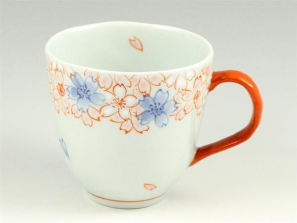 染錦渕桜(赤) マグカップ