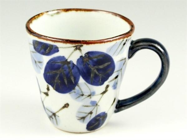 二色葉紋(青) マグカップ