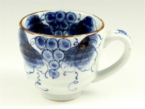 染付ぶどう(青) ビッグマグカップ