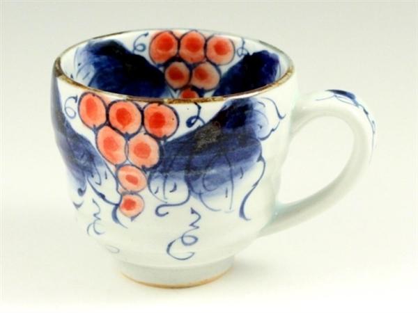染付ぶどう(赤) ビッグマグカップ