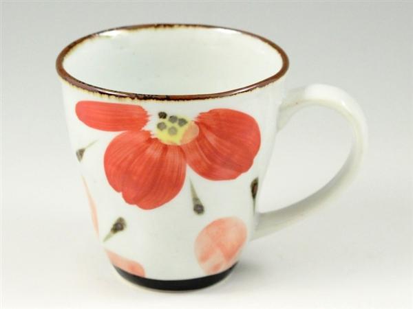 花々(赤) マグカップ