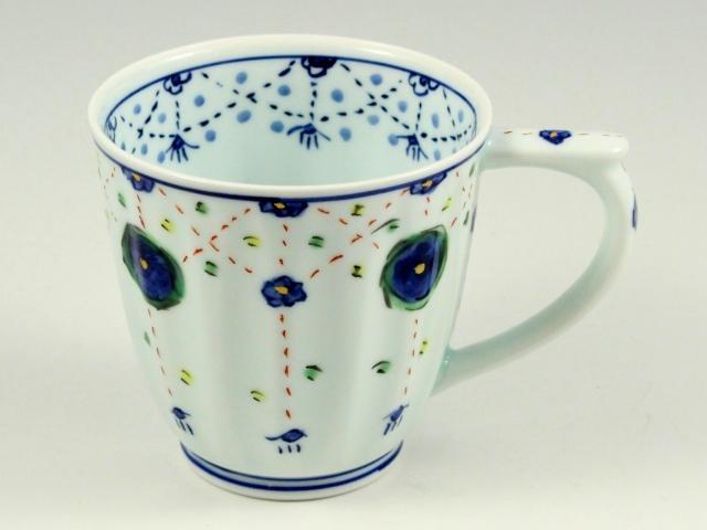 瓔珞紋(青) マグカップ
