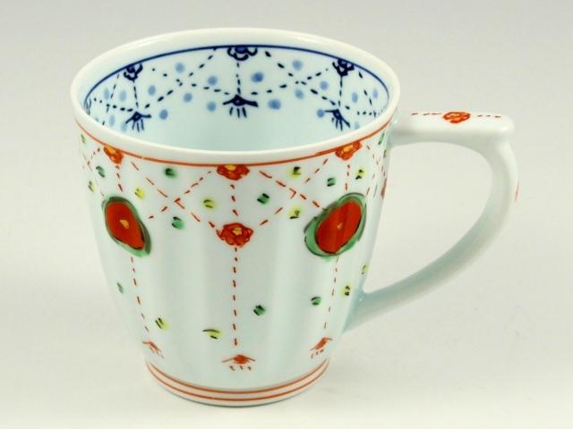 瓔珞紋(赤) マグカップ