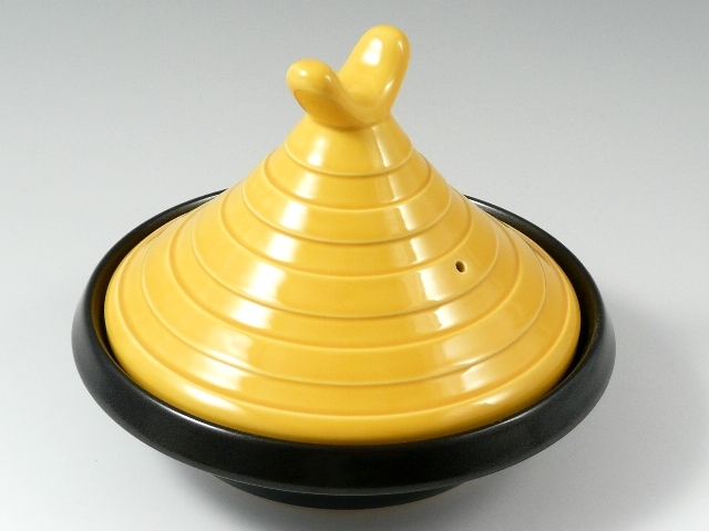 【順天窯】黄交趾 タジン鍋 8寸 (2~3人用)