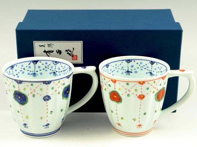 瓔珞紋 ペアマグカップ