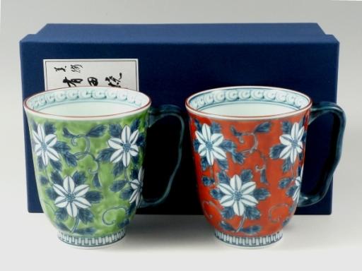濃鉄仙花 ペアマグカップ