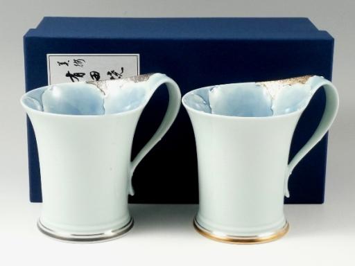 プラチナ牡丹・金牡丹流転型 ペアマグカップ