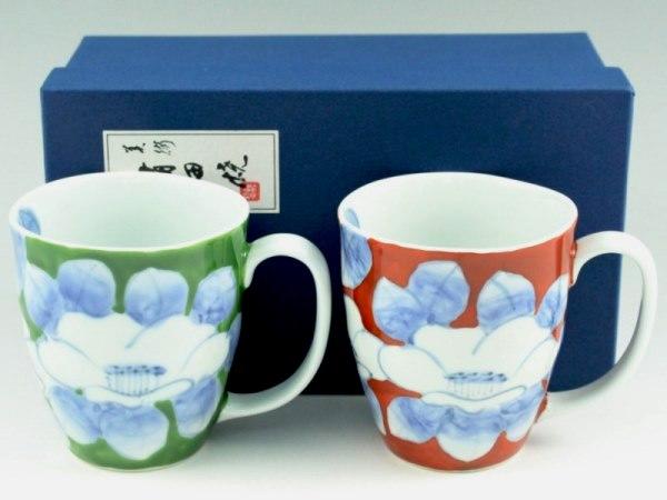 染錦椿 ペアマグカップ