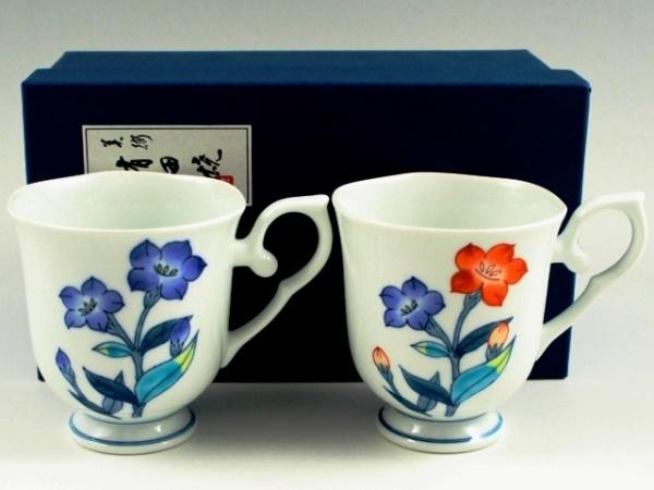 桔梗 彩花ペアマグカップ