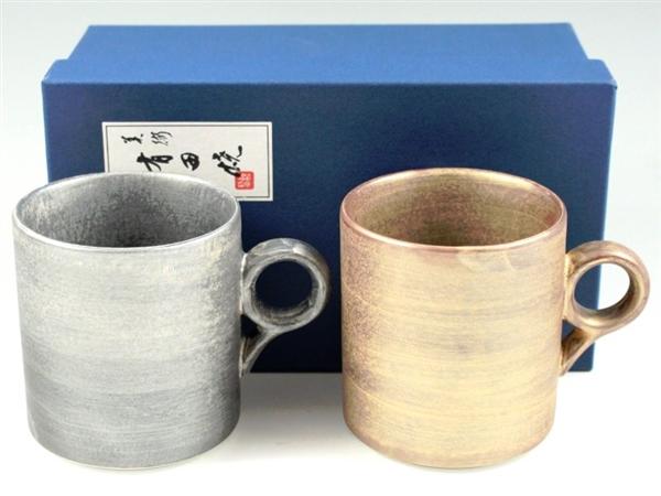 晶雲母銀・紫素雲母金 ペアマグカップ