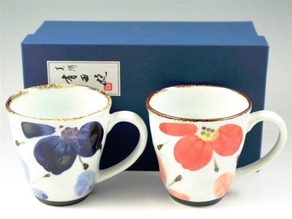 花々 ペアマグカップ